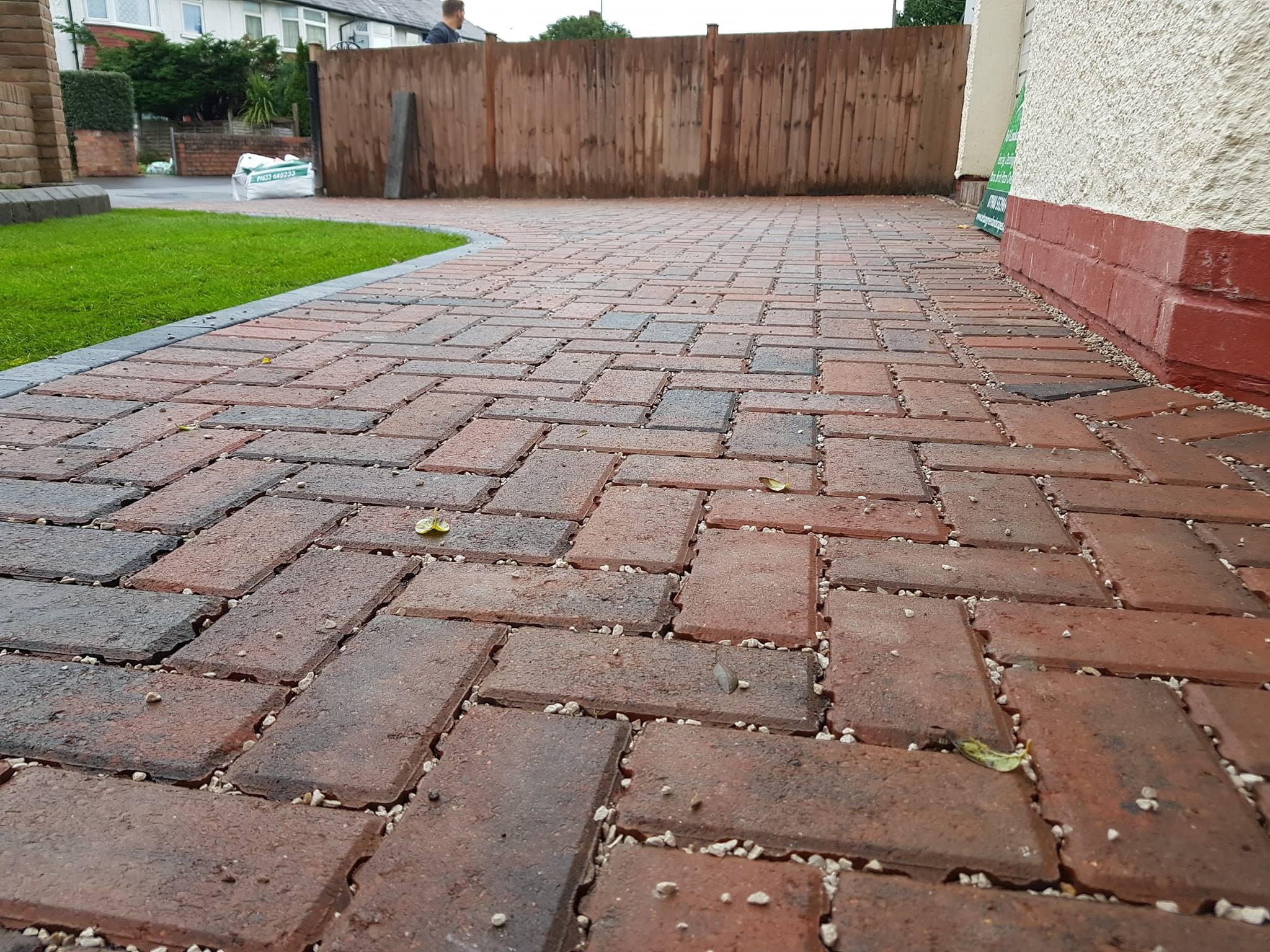 Red block paving