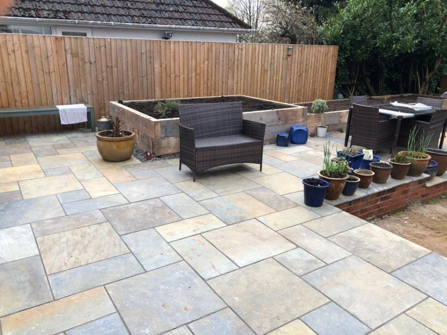 A patio area transformed!