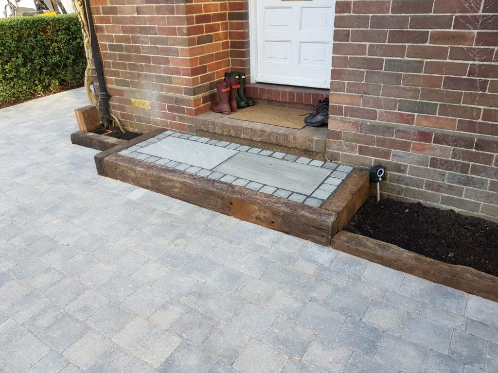 Block paving and step