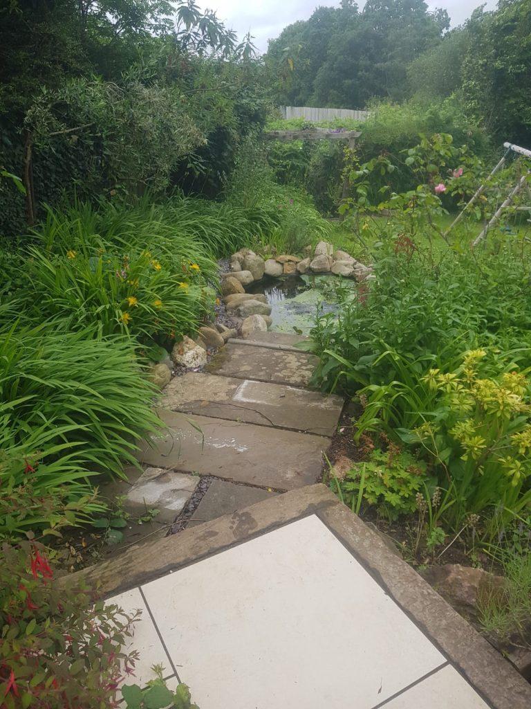 reclaimed stone path